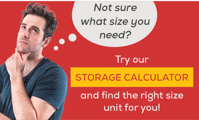 Promo, find the right size storage